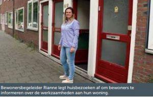 Bewonersbegeleider Rianne bij project Meerweidenlaan